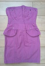 River Island Denim bodycon open back backless party corset peplum Dress purple