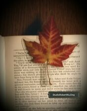Genuine Canadian Maple Leaf Bookmark!