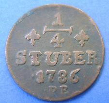 Deutsches Reich Jülich-Berg 1/4 stuber 1786 PR.