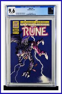 Rune #1 CGC Graded 9.6 Malibu January 1994 White Pages Comic Book