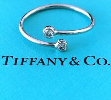 Tiffany & Co. 0.10tcw Diamond / Platinum PT950 Elsa Peretti Wrap Ring RRP $1950