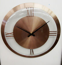 """HERMLE  HM 31007  NEW 14"""" COPPER WALL CLOCK"""