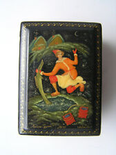 VINTAGE RUSSIAN LACQUER BOX MSTERA lackey HAND PAINTED - Emelya the fool