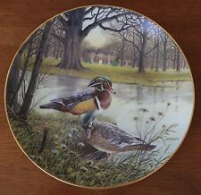 """Knowles Collector Plate- Bart Jerner """" The Wood Duck"""" - 1987"""