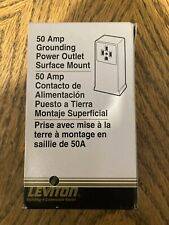 Leviton 50Amp Grounding Power Outlet Surface Mount New In Box Electrical Supply
