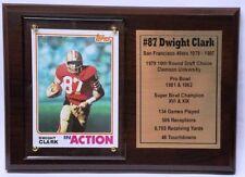 San Francisco 49ers Dwight Clark Football Card Plaque