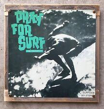 Pray For Surf The Packards Rick Griifnn John Severson Vintage Poster Framed Sign