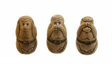 Figurine 3 Singes de la Sagesse ou du bonheur - Boite à pilules    C3 2577