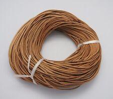 Cordón de cuero de vaca 1,5 mm cable de Perú natural 5 metros fabricación de joyas Hazlo tú mismo