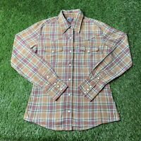 Women's Carhartt Western Style Flannel Pearl Snap Shirt Size Small Long Sleeve