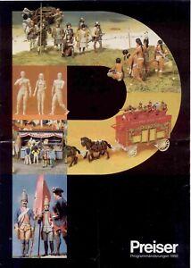 catalogo PREISER 1992 Programmänderungen PMP Maßstab HO N 1        D    aa