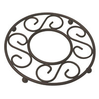 """Home Basics Scroll Collection Bronze Wire Table Trivet 8"""" x 8"""" x 0.75"""""""