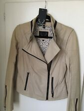 BOD & CHRISTENSEN *RARE* Leather Jacket - Color Bone - Size S (orig. price $650)