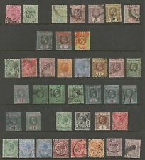 STRAITS SETTLEMENTS,MALAYA QV TO GV COLLECTION OF 39 STAMPS TO $2(FISCAL)