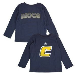 """Chattanooga Mocs Adidas NCAA Toddler Navy Blue """"Sideline Post"""" LS T-Shirt"""