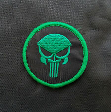 Punisher Skull Circular Green Usa Army U.S. Ops Airsoft Isaf Swat Hook Patch #02