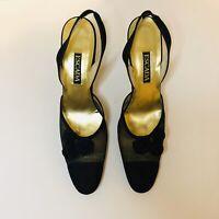 Escada Ladies Size 8 AAA Vintage Heels Black Mesh
