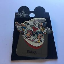 WDW - Monorail DIANA Name Pin FAB 4 Mickey Minnie Goofy Donald Disney Pin 15004