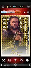 Topps WWE SLAM Digital 2020 Topps Fire Roman Reigns Gold Refractor Signature