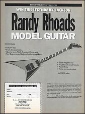 Jackson Randy Rhoads Offset V-Style Model Guitar advertisement 8 x 11 ad print