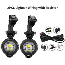 2X LED Auxiliary Fog Light Safety Driving Spot Lamp for BMW R1200GS Motorcycles