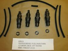 MBZ= 612 ENG 123 BODY 240D NON-TURBO  INJECTORS PRESS TESTED TO 115 BAR