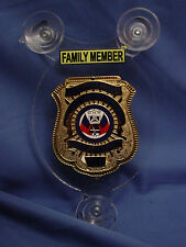 SALUTE OUR HEROES FAMILY POLICE CAR SHIELD- NJSP- FOP - PBA- LAW ENFORCEMENT