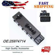 25974714 Black Power Seat Switch fits for 2010-2015 Chevrolet Camaro Driver Side