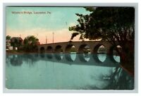 Vintage View of Witmer's Bridge, Lancaster PA c1911 Postcard L27