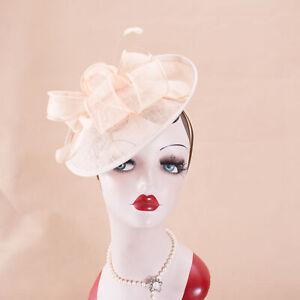 Womens Saucer Floral Kentucky Derby Fascinator Church Bridal Hat Headband T356