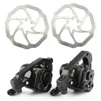 MTB Disc Brake Capliper Front Rear w/ 160mm 6 Bolt Rotors For bike BR-M375