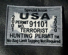 ISIS terrorist hunting permit hook 4 inch TACTICAL COMBAT ACU HOOK PATCH