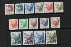 Norway 1992 to 1995 King & Queen Set of 15 Values SG 1122 to 1136 UM