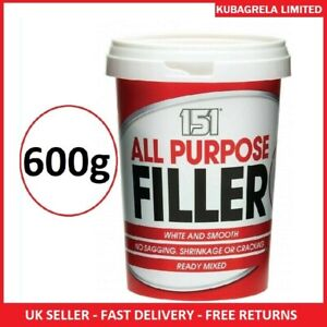 ALL PURPOSE FILLER WHITE SMOOTH - Ready mixed interior exterior wood wall 600g