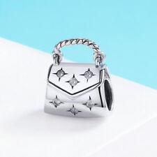 Fashion Silver Handbag Charm Bead Pendant 925 Sterling Silver Fit Bracelet Chain