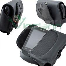 étui cuir noir CLIP sangle pour Samsung E1200 E2200 code blt01