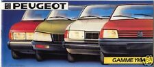 PEUGEOT ; catalogue gamme 1984  : 104  205  305  505  604  J5 J9