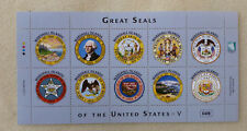 2016 MARSHALL ISLANDS GREAT SEALS OF THE USA 10 STAMP SHEETLET 2.9.16