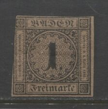 1851 German States BADEN 1 Kreuzer issue mint* $ 720.00