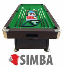 Simba Table de Billard Pool Marron 220 x 110cm