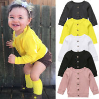 US Seller Newborn Infant Baby Girls Clothes Knitted Sweater Cardigan Coats Tops
