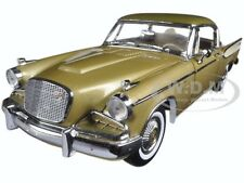 1957 STUDEBAKER GOLDEN HAWK TIARA GOLD 1/18 DIECAST MODEL CAR BY SUNSTAR 6150