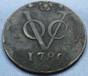 1780 Dutch Netherlands Colonial VOC Duit Coin