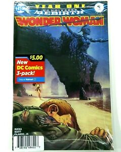 DC WONDER WOMAN: YEAR ONE #1 Sold Out WALMART 3-Pack VARIANT SEALED Ships FREE!
