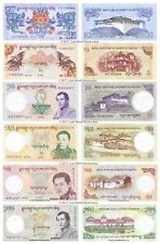 Bhutan 1 + 5 + 10 + 20 + 50 + 100 Ngultrum 2011 - 2015 Set of 6 Banknotes  UNC