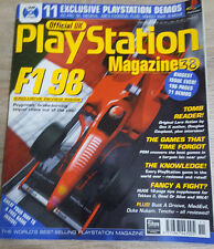 OFFICIAL UK PLAYSTATION MAGAZINE ISSUE NO.38--F1 98 COVER