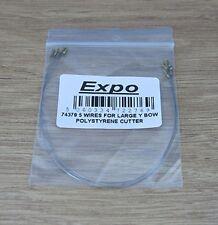 74379 cables de repuesto (PK.5) para y arco Cortador de alambre caliente Inalámbrico adjunto en
