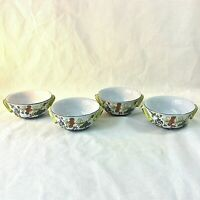 FAENZA SIGMA BLU CARNATION ITALY CERAMIC SET 4 LUG SOUP BOWL 2 SET AVAIL 6 3/8 L