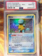 2005 Pokemon EX Delta Species 40 Ditto [Squirtle]-Reverse Foil PSA Gem Mint 10