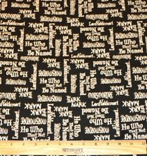 HARRY POTTER FABRIC! 1/2 YARD~QUILTING! LORD VOLDEMORT~HE WHO SHALL NOT BE NAMED